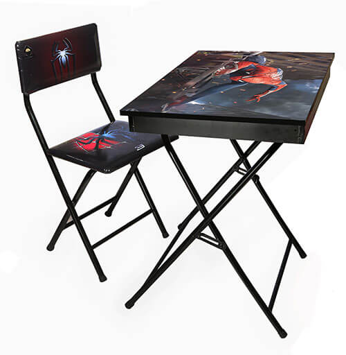 میز تحریر آریا طرح دار باکس دار طرح مرد عنکبوتی