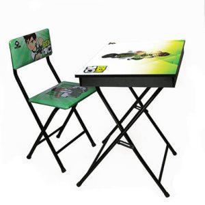 میز تحریر آریا طرح دار باکس دار طرح بن تن
